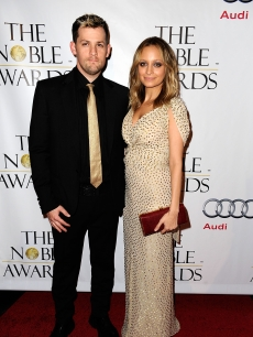 Joel Madden and Nicole Richie arrive at the 1st Annual &#8216;Noble Humanitarian Awards&#8217; on October 18, 2009 in Beverly Hills, California