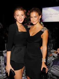 Blake Lively and Bar Refaeli attend 2009 Angel Ball to Benefit Gabrielle's Angel Foundation at Cipriani, Wall Street, NYC, October 20, 2009
