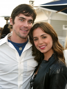 Matt Bomer and Eliza Dushku pose for a picture at FOX's new season party at Shutters on the Beach in Santa Monica, Calif., on August 12, 2004
