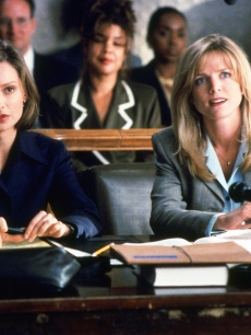Calista Flockhart and Courtney Thorne Smith on 'Ally McBeal'