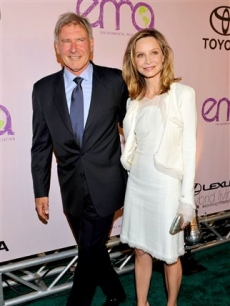 Harrison Ford and Calista Flockhart attend the 20th Anniversary Media Awards at the Paramount lot on Sunday, Oct. 25, 2009, in Los Angeles