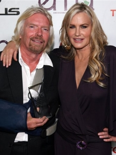 Sir Richard Branson and actress Daryl Hannah attend the 20th Anniversary Environmental Media Awards at the Paramount lot on Sunday, Oct. 25, 2009, in Los Angeles