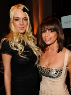 Lindsay Lohan and Paula Abdul attend &#8216;Rock The Kasbah&#8217; hosted by Sir Richard Branson and Eve Branson held at Vibiana on October 26, 2009 in Los Angeles, California