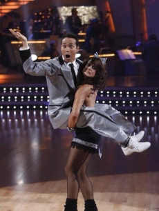 Lacey Schwimmer catches Mark Dacascos on 'Dancing'