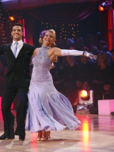 Mark Ballas and Melissa Joan Hart show off their waltz on Week 6 of &#8216;Dancing&#8217;