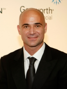 Andre Agassi arrives at the 14th annual Andre Agassi Charitable Foundation's Grand Slam for Children benefit concert at the Wynn Las Vegas September 26, 2009 in Las Vegas