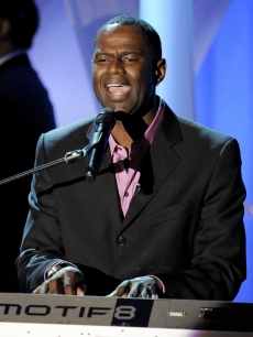 R&amp;B star Brian McKnight performs at the First Annual Noble Awards in Los Angeles on October 18, 2009