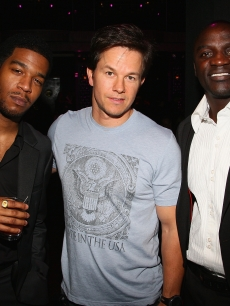 Kid Cudi, Mark Wahlberg and Akon attend The Gentlemen's Ball 2009 at The Edison Ballroom on October 28, 2009 in New York City