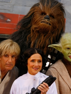 'Today' show stars Matt Lauer, Meredith Vieira and Hoda Kotb decked out in 'Star Wars' costumes for Halloween on October 30, 2009