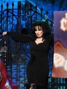Joy Behar comes out dressed as Vampyra for Halloween on 'The View' on October 30, 2009