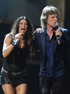 Fergie and Mick Jagger rock the house at the 25th Anniversary Rock & Roll Hall of Fame concert at Madison Square Garden in New York City on October 30, 2009