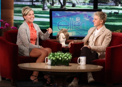 Kate Gosselin sits down with Ellen DeGeneres on October 28, 2009