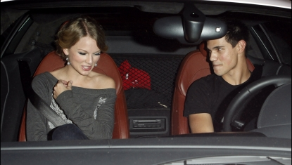 Taylor Swift and Taylor Lautner sighting at the Alice+Olivia Boutique on Robertson Blvd. on October 28, 2009 in Los Angeles, California