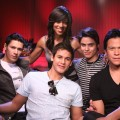 Shaun Robison with the 'New Moon' wolf pack Alex Meraz, Bronson Pelletier, Kiowa Gordon and Chaske Spencer, LA, Nov. 6, 2009
