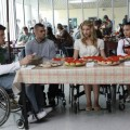 Cory Monteith, Mark Salling, Dianna Agron and Naya Rivera on 'Glee'