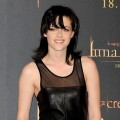 Kristen Stewart sports a black leather ensemble at 'The Twilight Saga: New Moon' photocall at Villa Magna Hotel on November 12, 2009 in Madrid, Spain