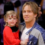 Larry Birkhead and daughter Dannielynn Birkhead attend a game between the New Orleans Hornets and the Los Angeles Lakers at Staples Center on November 8, 2009 in Los Angeles, California
