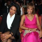 Oprah Winfrey and Gayle King at the NAACP Awards, March 19, 2005