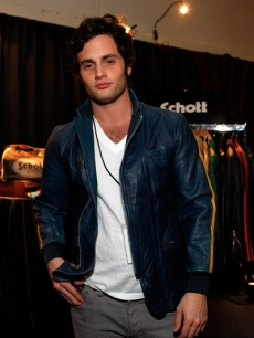 Gossip Girl hottie Penn Badgely rocked a one-of-a-kind vintage leather jacket from Schott NYC
