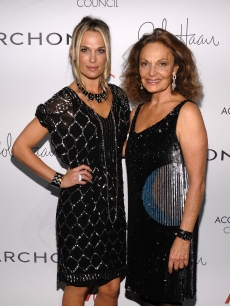 Molly Sims and designer Diane von Furstenberg attend the 13th Annual 2009 ACE Awards presented by the Accessories Council at Cipriani 42nd Street on November 2, 2009