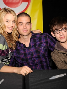 Dianna Agron, Mark Salling and Kevin McHale sign copies Of 'Glee: The Musical Vol. 1' at Roosevelt Field Mall, NY, November 2, 2009