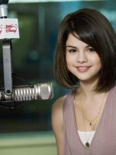 Selena Gomez in the Radio Disney studios.