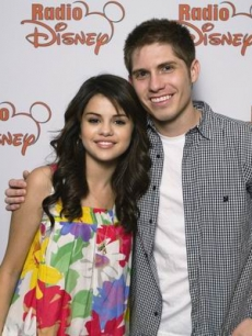 Selena Gomez with Radio Disney&#8217;s Jake Whetter.