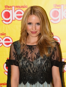 Dianna Agron attends a 'Glee' album signing in Parmus, New Jersey, Nov. 4, 2009