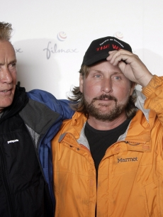 Martin Sheen and Emilio Estevez are seen on location for the filming of &#8216;The Way,&#8217; Santiago de Compostela, Spain, November 4, 2009