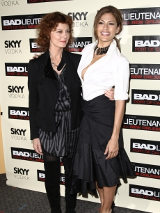 Eva Mendes and Susan Sarandon make a perfect pair at a special screening of 'Bad Lieutenant - Port of Call New Orleans' at the SVA Theater in New York on November 8, 2009