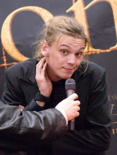 Jamie Campbell Bower, who plays Caius in 'New Moon,' answers fans' questions during a promotional tour for 'The Twilight Saga New Moon' at the Fair Oaks Mall in Fairfax, Virginia on November 9, 2009