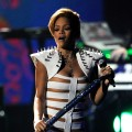 The wait is ova for Rihanna at the 2009 American Music Awards at the Nokia Theatre L.A. Live in LA on November 22, 2009
