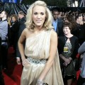 The lovely Carrie Underwood on the red carpet at the 2009 American Music Awards at the Nokia Theatre L.A. Live in LA on November 22, 2009