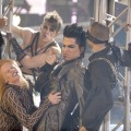 Adam Lambert performs onstage at the 2009 American Music Awards at Nokia Theatre L.A. Live on November 22, 2009 in Los Angeles, California