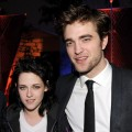 Kristen Stewart and Robert Pattinson arrive at the afterparty for the premiere of Summit Entertainment's 'The Twilight Saga New Moon' at the Hammer Museum on November 16, 2009 in Los Angeles, California