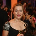 Kate Winslet takes home a trophy at the Bambi Awards 2009 show at the Metropolis Hall at the Filmpark Babelsberg in Potsdam, Germany on November 26, 2009