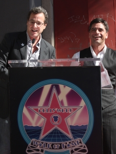 Bob Saget speaks as John Stamos is inducted to the Hollywood Walk of Fame on November 16, 2009 in Hollywood, Nov. 16, 2009