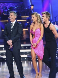 Tom Bergeron, Joanna Krupa and Derek Hough