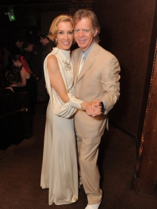 Felicity Huffman and William H. Macy share a dance at the 'A Diamond Is Forever and Vanity Fair Host An Evening with Felicity Huffman' at Cicada on November 22, 2009 in Los Angeles, California