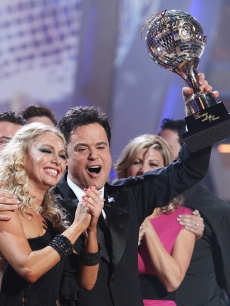 Donny Osmond and partner Kym Johnson are crowned 'Dancing With the Stars' champs