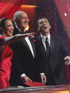 The judges, Carrie Ann Inaba, Len Goodman and Bruno Tonioli, get a good laugh out of the 'losers'' humor.