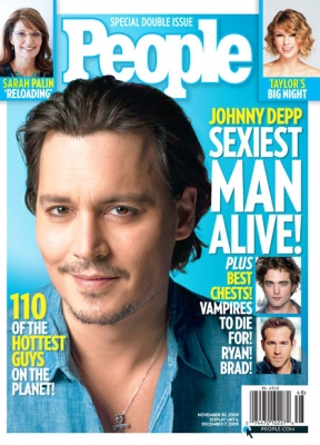 Johnny Depp on the cover of People&#8217;s 2009  &#8216;Sexiest Man Alive&#8217; issue