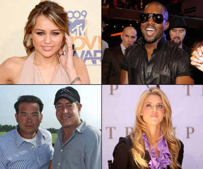 Top 10 Turkeys of 2009 — Miley Cyrus/Kanye West/Jon Gosselin & Michael Lohan/Carrie Prejean