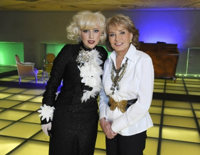 "Lady Gaga and Barbara Walters during ""Barbara Walters Presents: The 10 Most Fascinating People of 2009"""