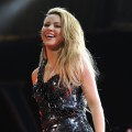 Shakira smiles on stage at the Y 100 Jingle Ball 2009 in Fort Lauderdale, Fla., on December 12, 2009