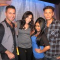AccessHollywood.com&#8217;s Laura Saltman with &#8216;Jersey Shore&#8217; stars Mike, Nicole and Pauly