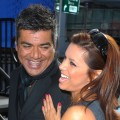 George Lopez and Eva Longoria Parker during the George Lopez Induction Ceremony Into The Nokia Theatre Hall Of Fame, Los Angeles, December 15, 2009