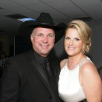 Garth Brooks and Trisha Yearwood backstage at the Hollywood Bowl Opening Night Gala held at the Hollywood Bowl on June 19, 2009 in Hollywood, California