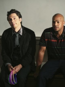 "Zach Braff and Donald Faison, season nine ""Scrubs"""