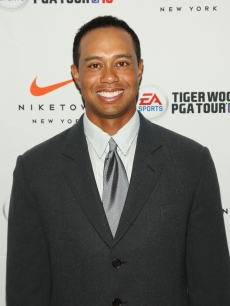 Tiger Woods attends EA SPORTS Tiger Woods PGA TOUR 10 Party at NikeTown, NYC, June 25, 2009